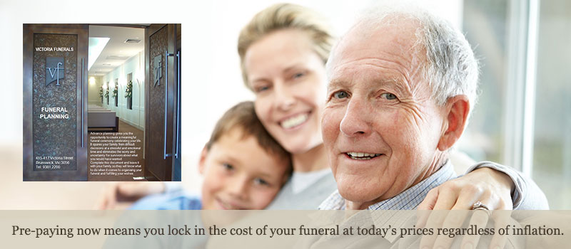 Pre-paying now means you lock in the cost of your funeral at today's prices regardless of inflation.
